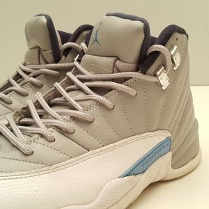 AirJordan 12 Retro Grey Blue Men's Kicks Sz 10